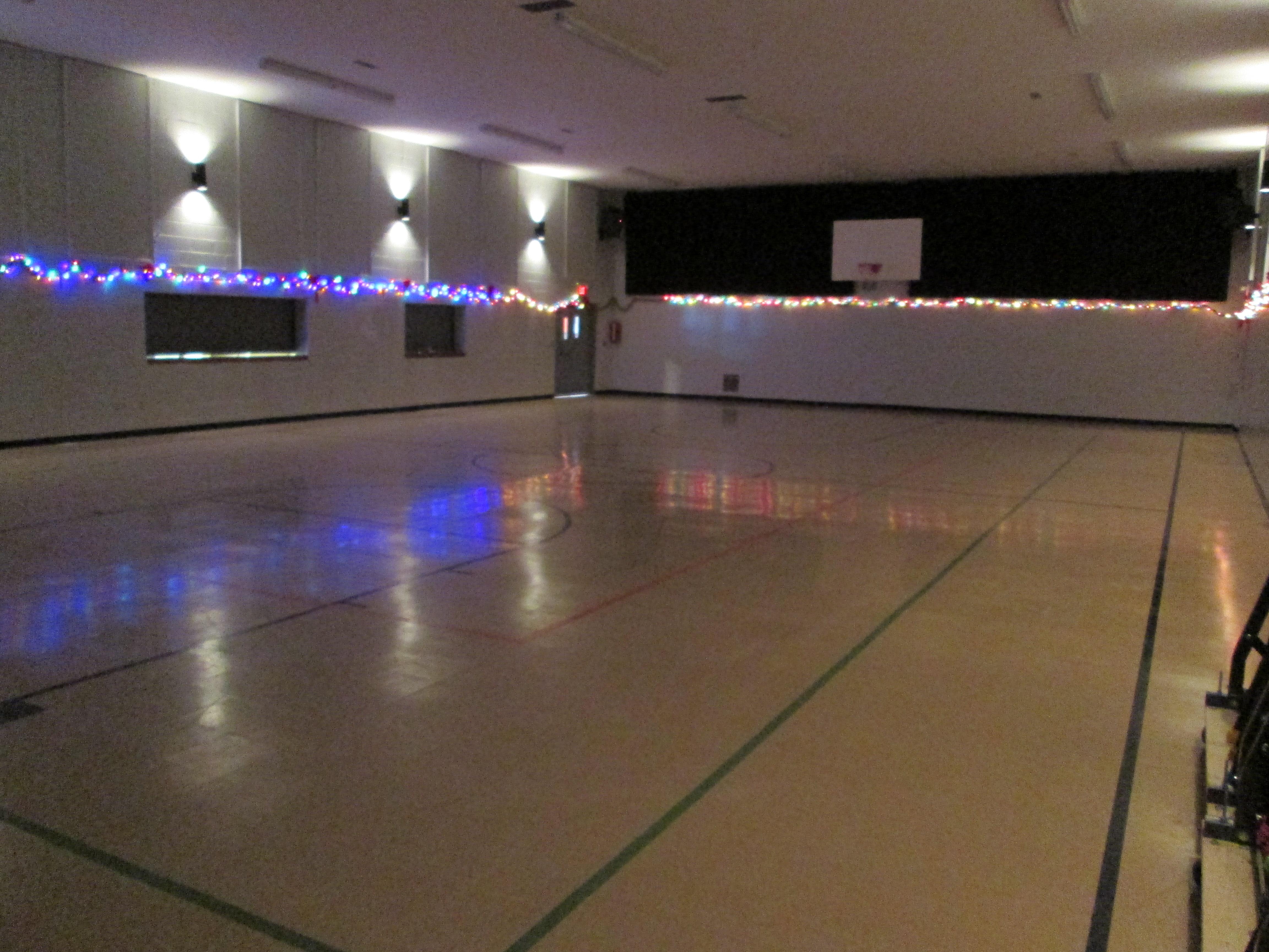 Gymnasium Dimmed Lights